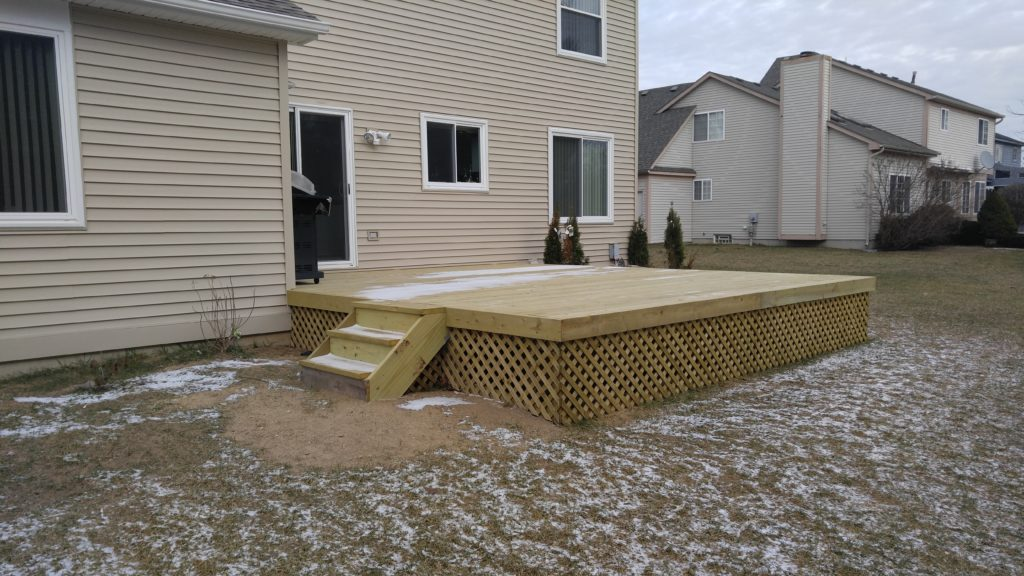 New Wood Deck Commerce Township