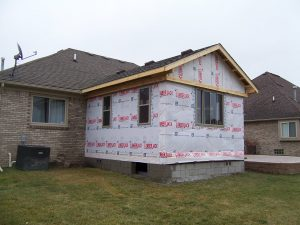 room addition in progress in Macomb