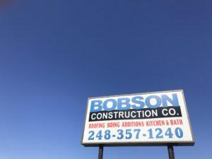Bobson Construction Company Sign